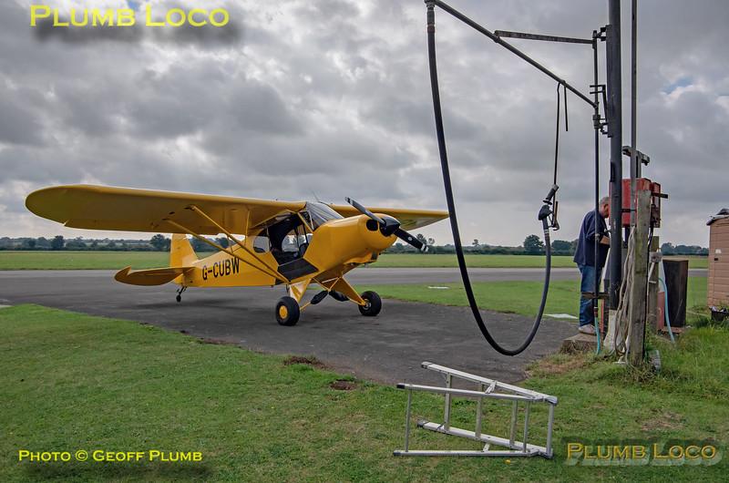Piper Cub replica G-CUBW, Hinton Fuelling, 16th September 2021