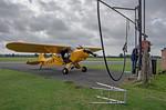 Piper Cub G-CUBW, Hinton Fuelling, 16th September 2021