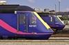 43161 08:45 London Paddington to Swansea and 43023 10:55 Cardiff Central to London Paddington at Cardiff Central 12/5/2005.