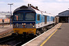 59004 7V01 11:36 Woking to Westbury at Salisbury 06/09/04.