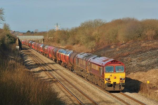Class 59's on 6B13