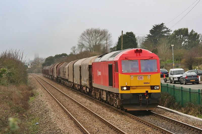 60054 6H25 Margam to Llanwern at Rhoose 08/01/2012.