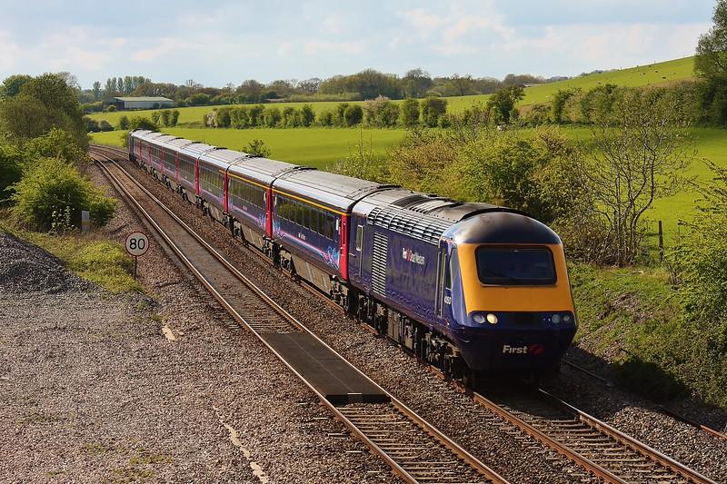 43150 & 43003 1J99 15:23 Taunton to London Paddington at Crofton 16/05/13.