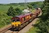 66050 6W01 Ystrad Mynach to Westbury at Llangewydd Farm 14/07/13.