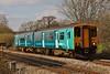 150251 2G66 16:15 Maesteg to Cheltenham Spa at Pontsarn 30/04/13.