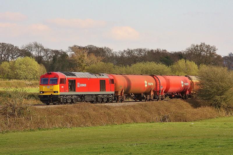 60063 6B33 Theale to Robeston at Pontsarn 30/4/13.