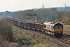 66126 6O70 Gwaun Cae Gurwen to Onllwyn coal departing Llandeilo Junction 20/03/2013.