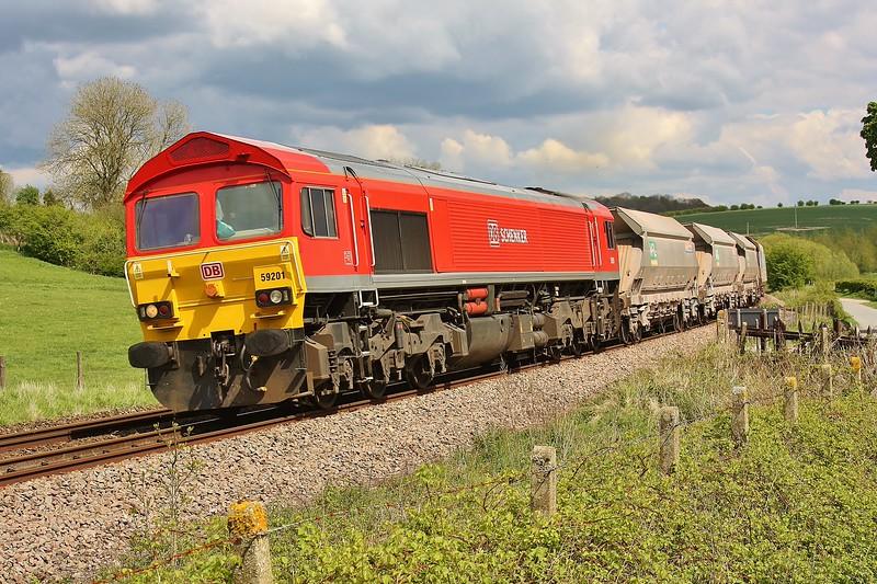59201 7C77 Acton to Merehead at Crofton 16/05/13.