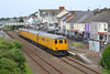 31465 propels 9702 through Pembrey and Burry Port station with 3Q34 Bristol to Swansea via Milford Haven 31/05/14.