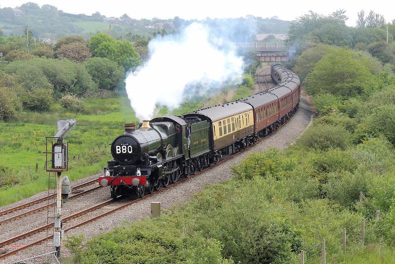 5029 Nunney Castle 1Z50 06:04 Birmingham International to Carmarthen at Llandeilo Junction 31/05/14.