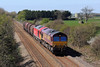 66102 & 60017 6E47 Margam to Middlesborough Dawson at St Athan 13/4/14.