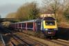 43154 & 43153 1L48 09:28 Swansea to London Paddington at Pyle 06/12/14.