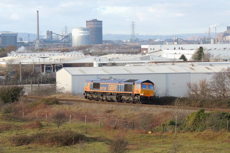 66758 0Z67 Port Talbot Parkway to Pengam at Kenfig 30/12/14.