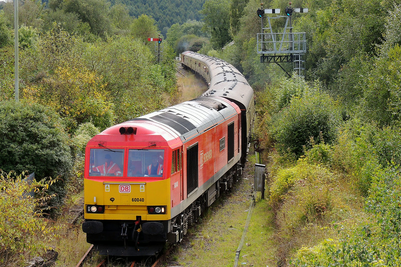 60040 Top and tails 60039 1Z61 13:30 Baglan Bay to Tower Colliery at Tondu 24/8/14.
