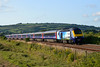 43163 & 43145 1L96 19:05 Carmarthen to London Paddington at Kidwelly 20/7/14.