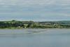 66109 6B26 Margam to Trostre runs alongside the Loughor estuary 13/6/14.