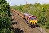 66119 6W16 Cardiff East to Westbury via Margam Yard at Stormy 04/05/14.