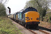 37612 & 37611 1Z49 07:07 Eastleigh to Llandrindod Wells at Hendy 21/4/14.
