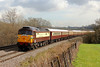 47832 1Z29 11:59 Cardiff Central to Fishguard Harbour Northern Belle at St Georges 1/3/14.