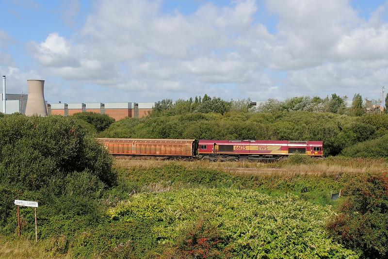66125 6L42 Trostre to Tilbury at Trostre 31/08/14.