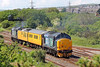 37425 T&T 37667 1Q14 Derby RTC to Landore via the Heart of Wales line at Llandeilo Junction 21/5/14.