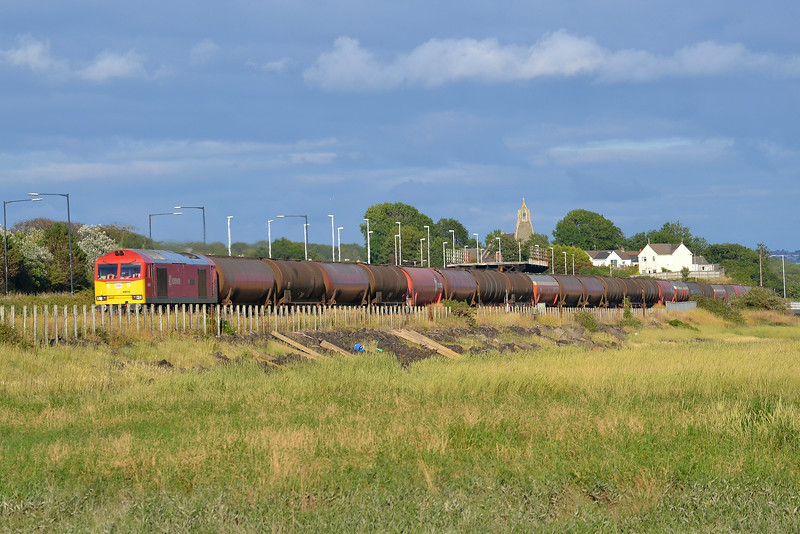60019 6B33 Theale to Robeston at Loughor 29/7/14.