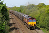 66050 6O32 Margam to Dollands Moor at Stormy 04/05/14.