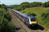 43086 & 43125 1L66 13:28 Swansea to London Paddington at Stormy 16/8/14.