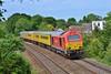 67027 T&T 67029 1Z20 Old Oak to Derby via Swansea near Pencoed 13/6/14.