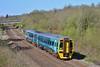 158820 2L52 10:15 Maesteg to Cardiff Central near Pencoed 18/4/15.