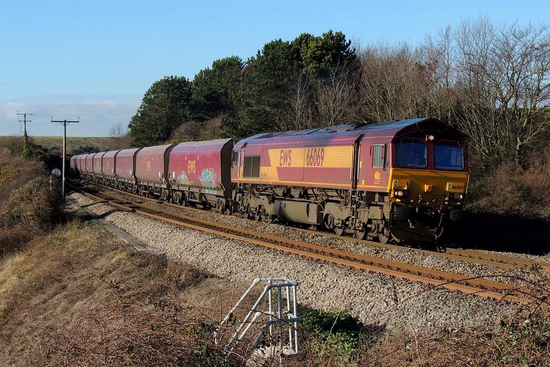 66069 4C69 Aberthaw to Avonmouth at Aberthaw 18/01/15.