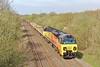 70807 6C22 Radyr to Westbury at Stormy 19/4/15.