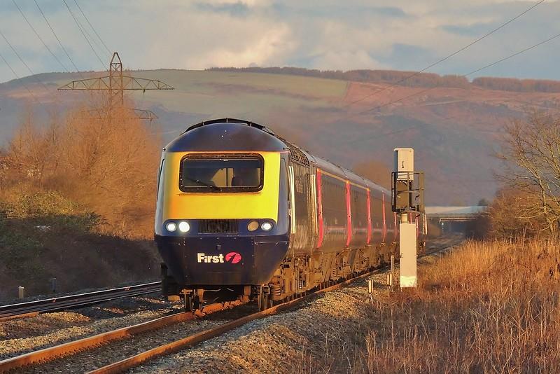 43078 & 43191 1L34 07:28 Swansea to London Paddington at Margam 21/2/15.