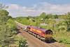 66232 6W05 Westbury to Cardiff via Margam Yard  at Llangewydd Farm 23/5/15.