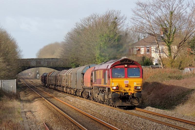 66143 6M41 Margam to Round Oak at Pyle 26/01/15.