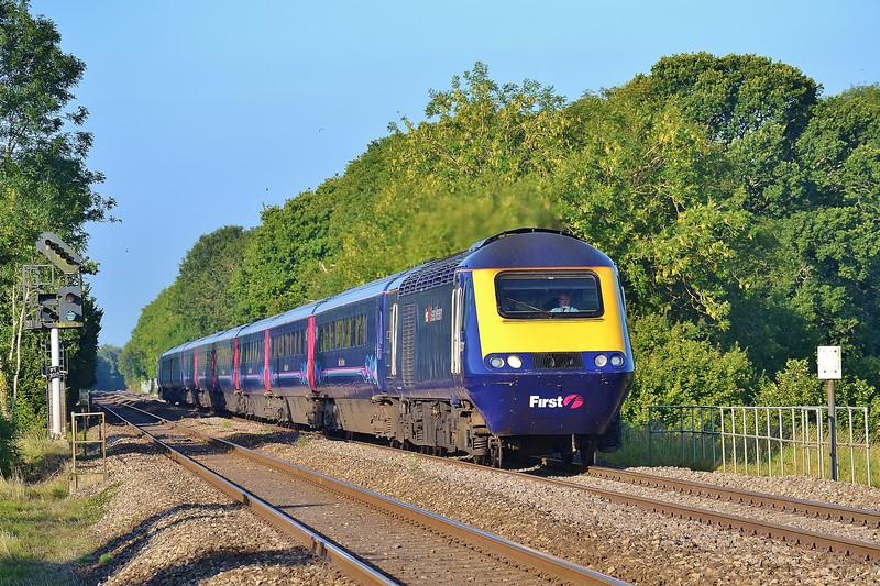 43131 & 43127 1L38 07:58 Swansea to London Paddington at Coychurch 8/9/15.