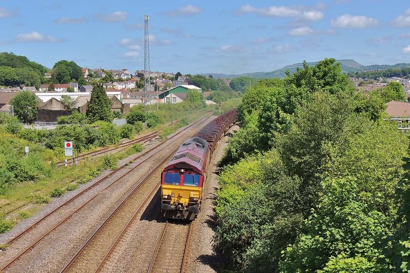 66059 6B61 Trostre to Margam at Briton Ferry 7/6/15.