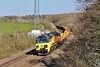 70807 top and tails 70809 6C22 Westbury to Leckwith North Junction at Llangewydd Farm 18/4/15.