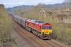 66101 6H25 Margam to Llanwern at Llangewydd 12/3/16.
