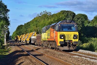 70808 6X23 Westbury to Cardiff at Coychurch 17/9/16.