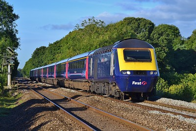43161 & 43002 1Z34 07:58 Swansea to Cardiff Central at Coychurch 17/9/16.