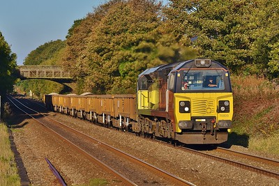 70809 6C21 Penarth Curve South Junction to Westbury at Pyle 23/10/16.