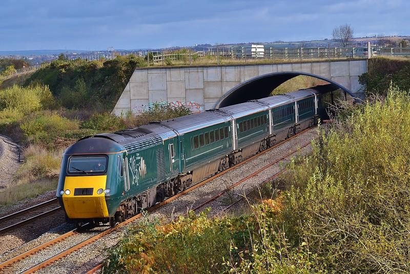 43188 & 43187 1B20 08:37 London Paddington to Carmarthen at Llandeilo Junction 6/11/16.