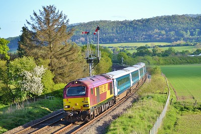 67022 1W96 17:16 Cardiff Central to Holyhead at Cheney Longville 16/5/16.