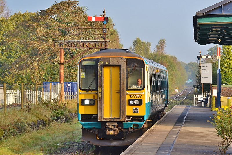 153367 2V06 05:56 Shrewsbury to Cardiff Central at Pantyffynnon 14/10/16.