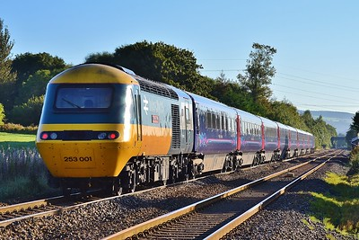 43002 & 43161 1Z34 07:58 Swansea to Cardiff Central at Coychurch 17/9/16.