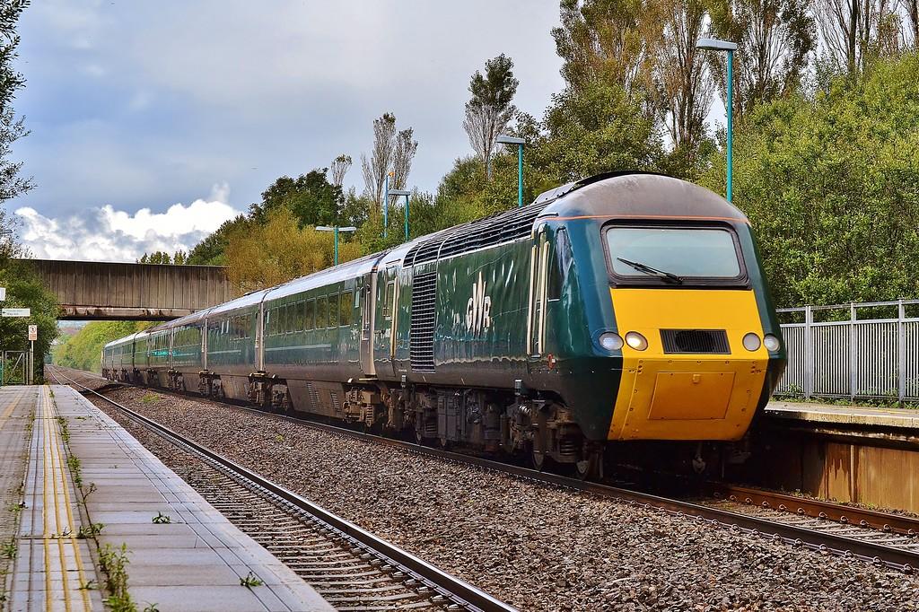 43187 & 43188 1L71 14:37 Swansea to London Paddington at Baglan 1/10/16.