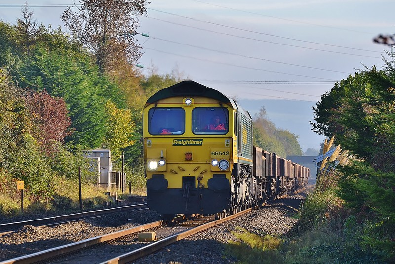 66542 6Y64 Crewe Basford Hall to Barry at Coychurch 22/10/16.