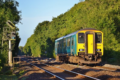 150235 2F52 06:50 Carmarthen to Cardiff Central at Coychurch 17/9/16.