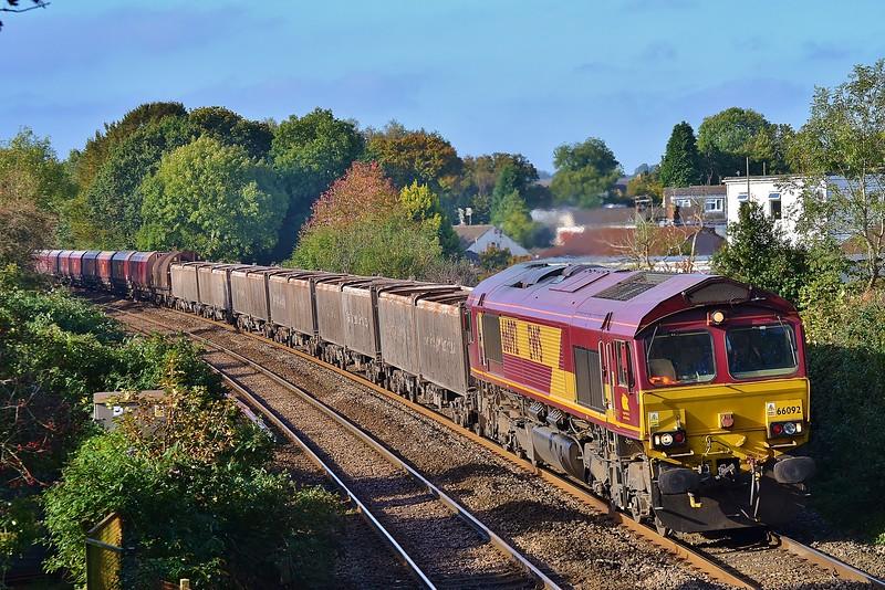 66092 4E66 Margam to Tees near Pencoed 22/10/16.